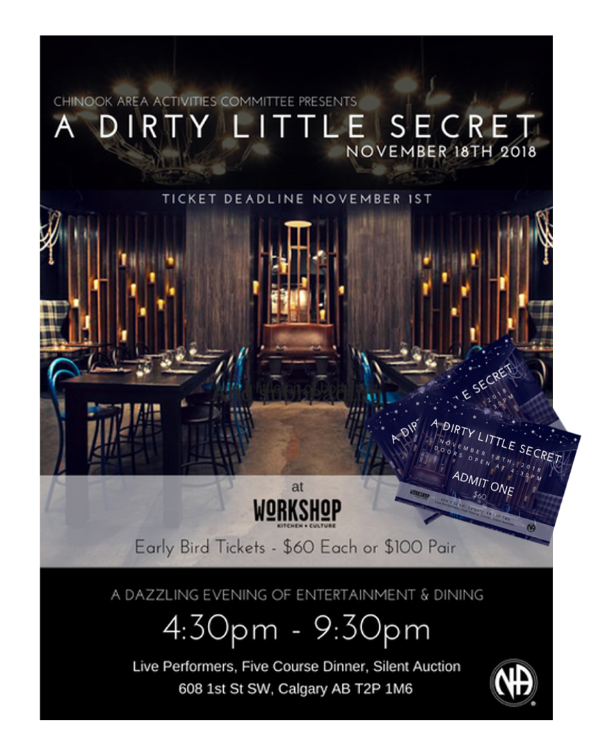 Chinook Activities Presents A Dirty Little Secret @ Workshop Kitchen + Culture | Calgary | Alberta | Canada