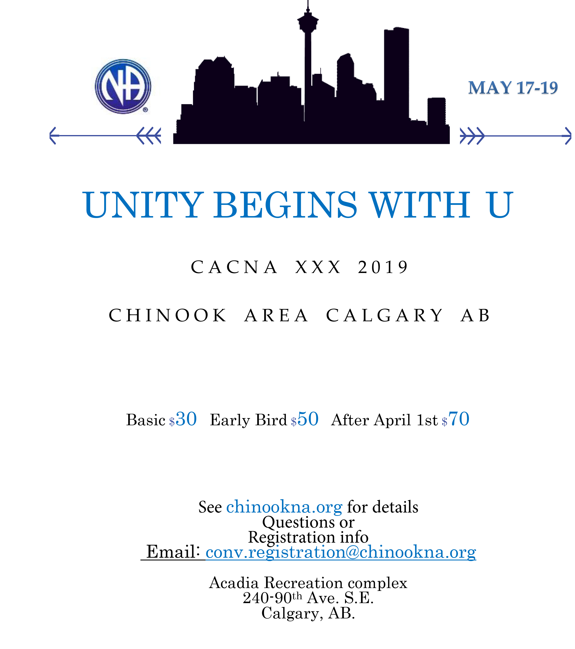 "Chinook Area Presents Convention XXX ""Unity Begins with U"" @ Calgary 
