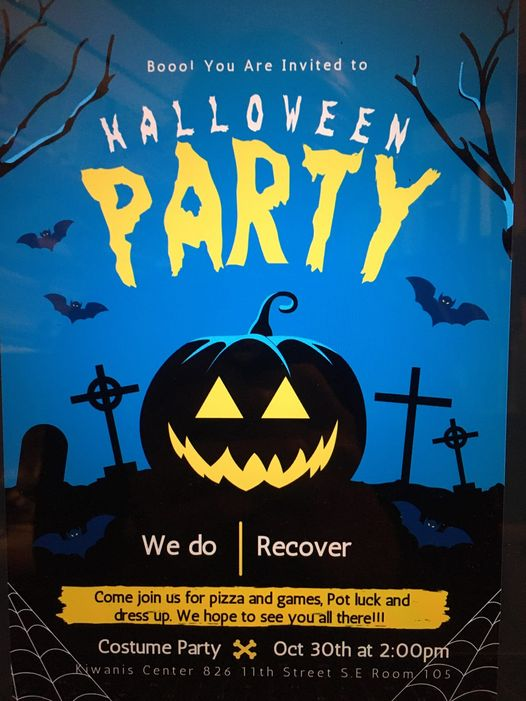 WE DO RECOVER HALLOWEEN PARTY @ KIWANIS CENTRE